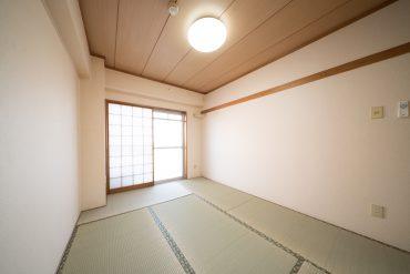 和室6畳はこんな感じ。押入れが付いております。