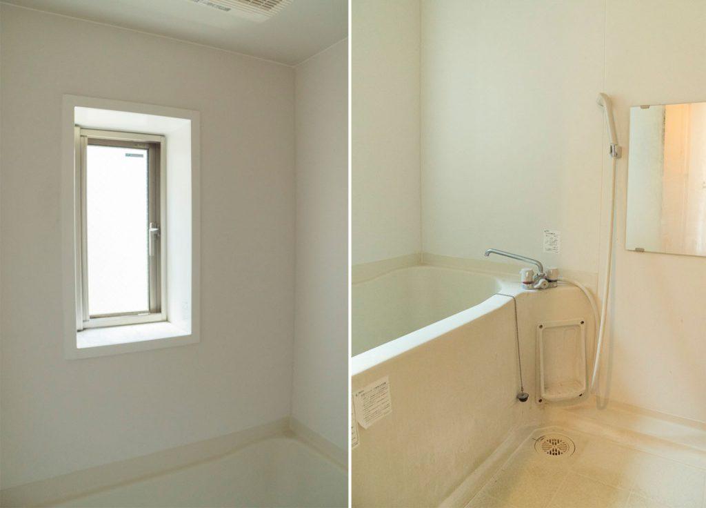 お風呂に窓があるので換気はばっちり。