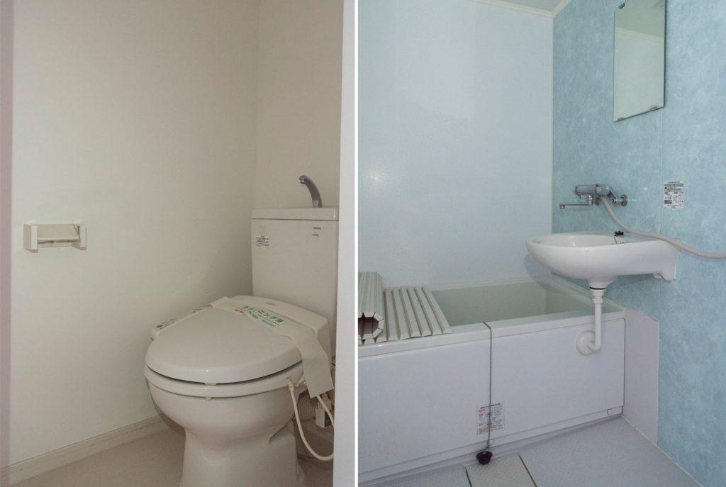 お風呂・トイレ別です。
