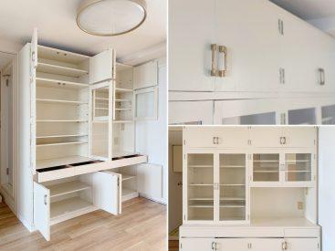レトロチックな食器棚。ああ愛し。