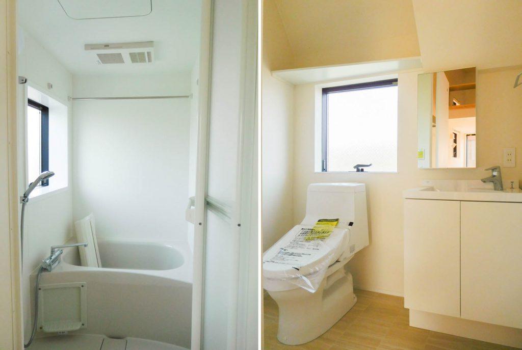 お風呂・トイレにも窓があります。
