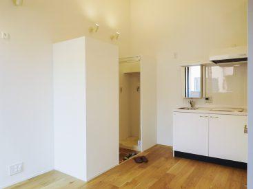 入り口横は収納と洗濯機置き場です。