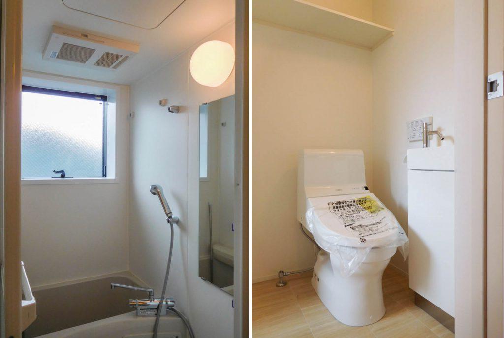 お風呂とトイレも綺麗!
