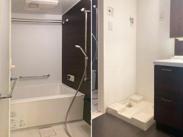 お風呂、洗濯機置き場。