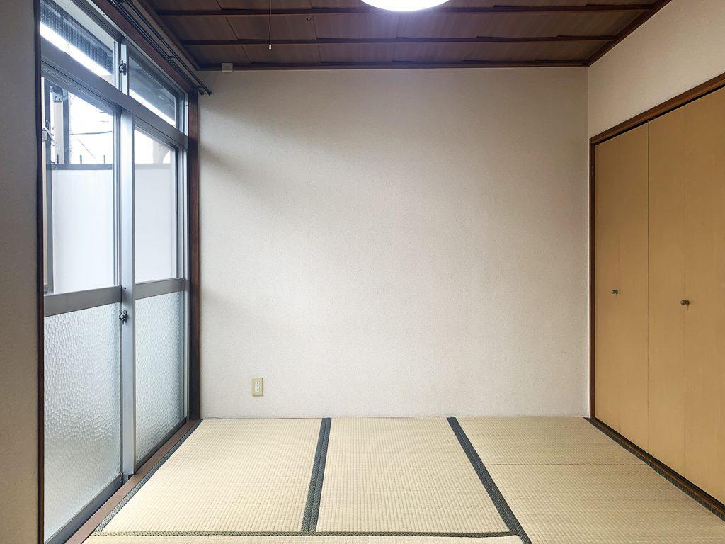 4.5畳の和室。こっちは寝室に。