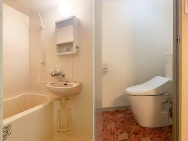 お風呂、トイレは新しめのものが。