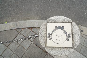 街中に潜むサザエさん一家を見つけるのも桜新町の楽しみのひとつ