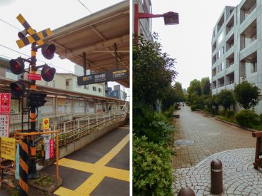 若林駅から歩いて数分。途中、緑道があったりします。