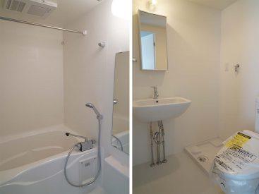 浴槽は一人暮らしにしては広めです