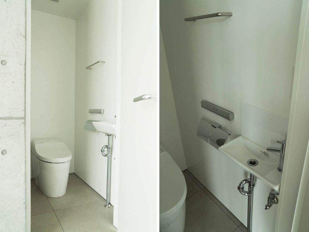 玄関横トイレ。お気に入りの絵を飾りたい。