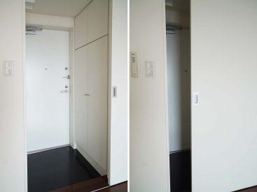宅配時など扉閉めればお部屋が見えません。
