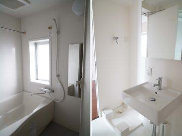 洗面・洗濯機置き場・お風呂。