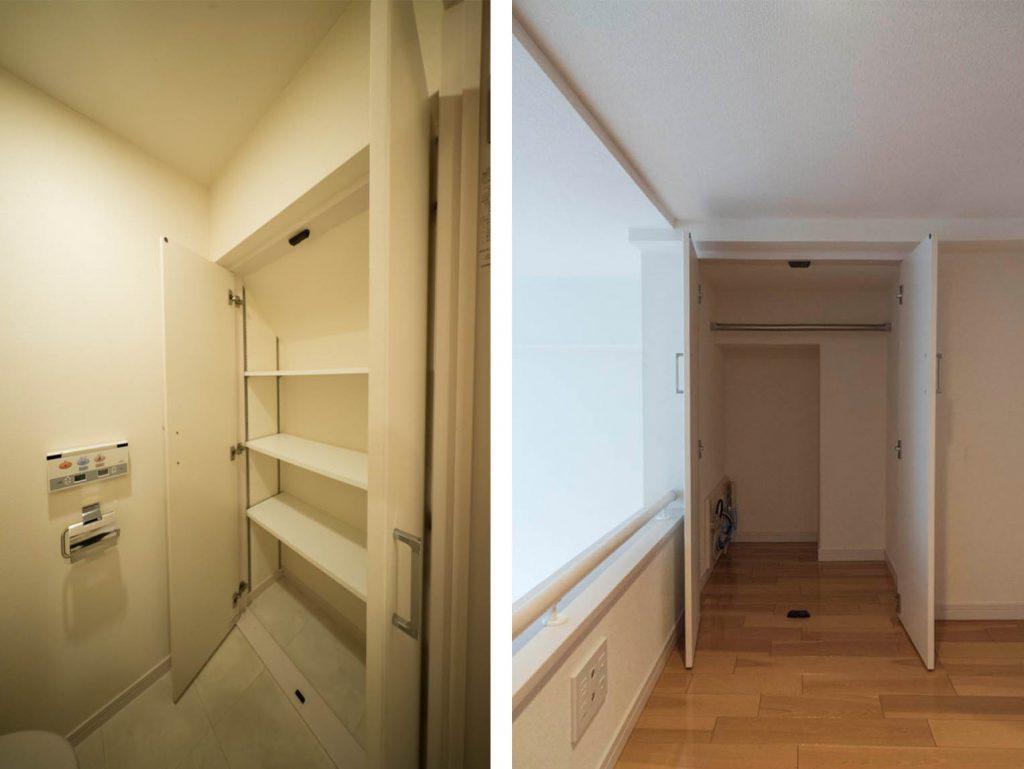 トイレの中の収納/ロフトの収納