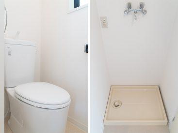 トイレと室内洗濯機置場。