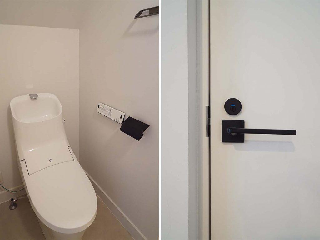洗面入り口とトイレ