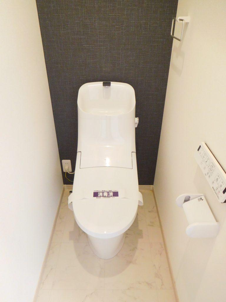 トイレの壁も印象的です