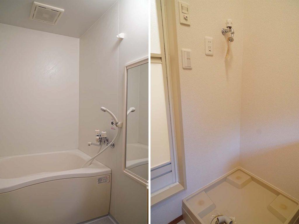 お風呂と洗濯機置き場