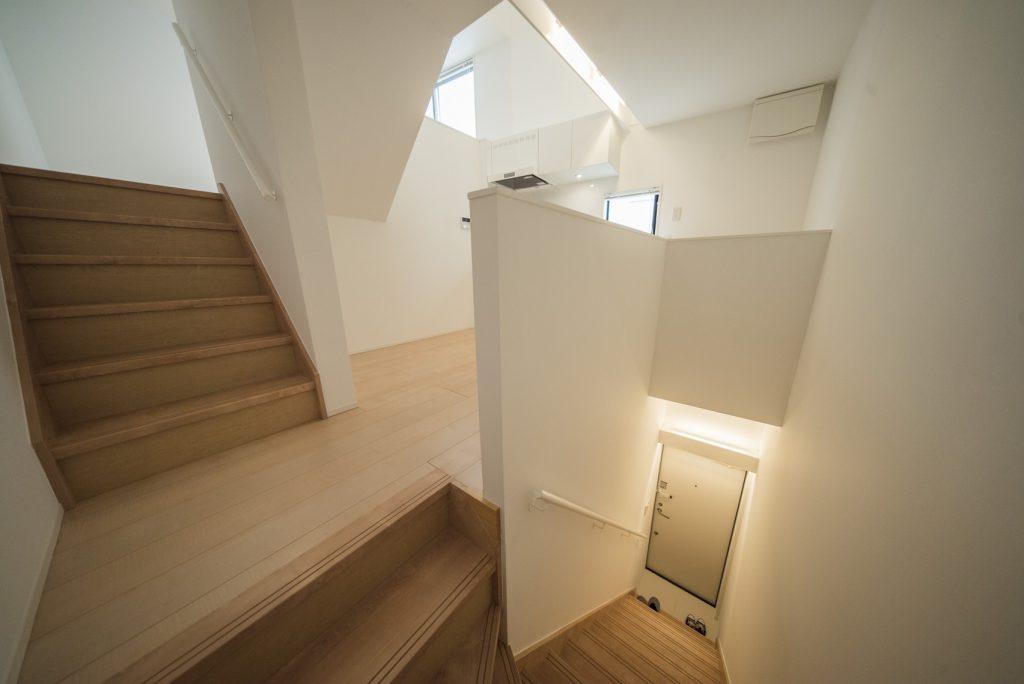 ぐるっとメゾネットです、2階部分がキッチン。