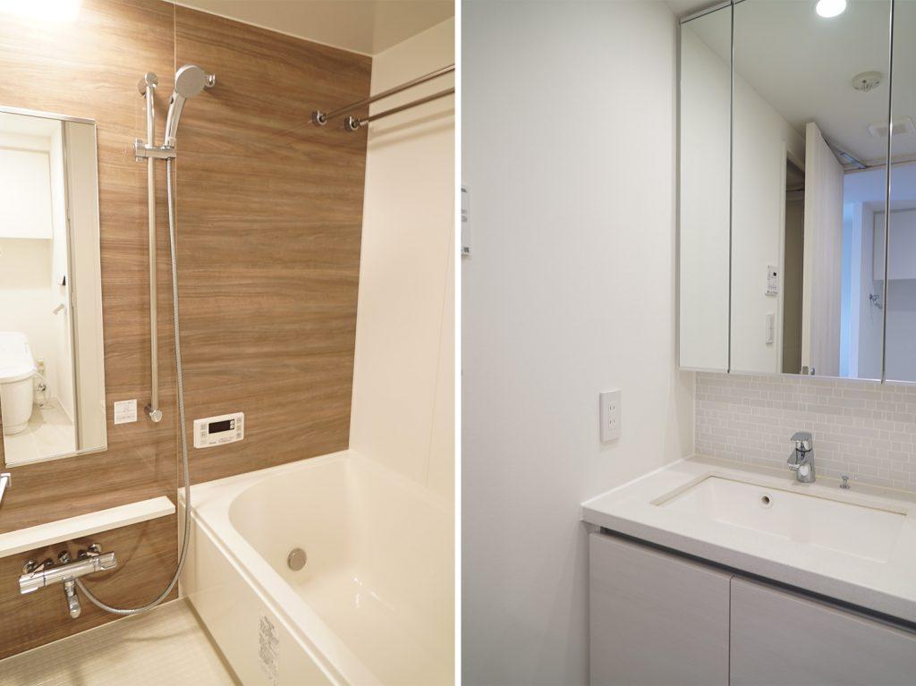 お風呂と洗面台