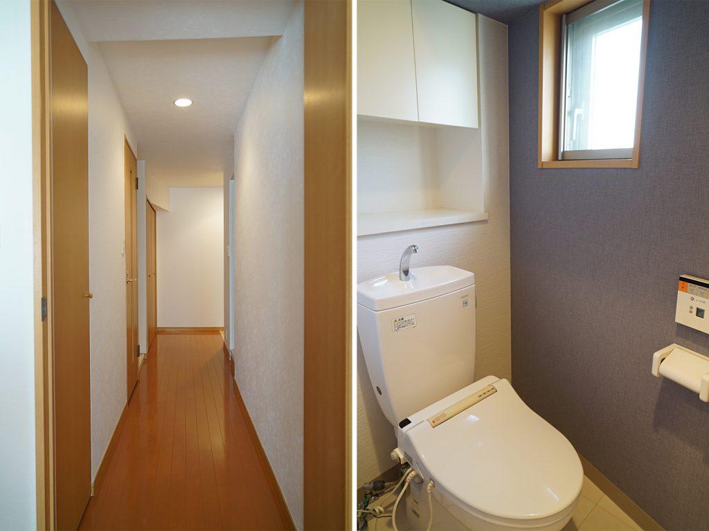 玄関からの廊下とトイレ
