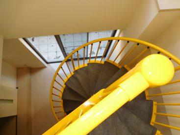 螺旋階段が美しい