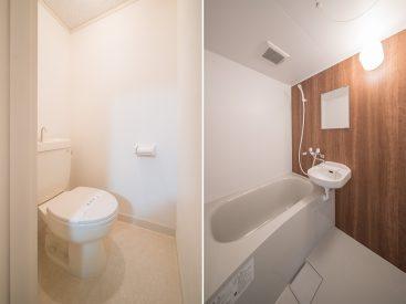 トイレ、お風呂、お風呂は新しくリフォームされています。