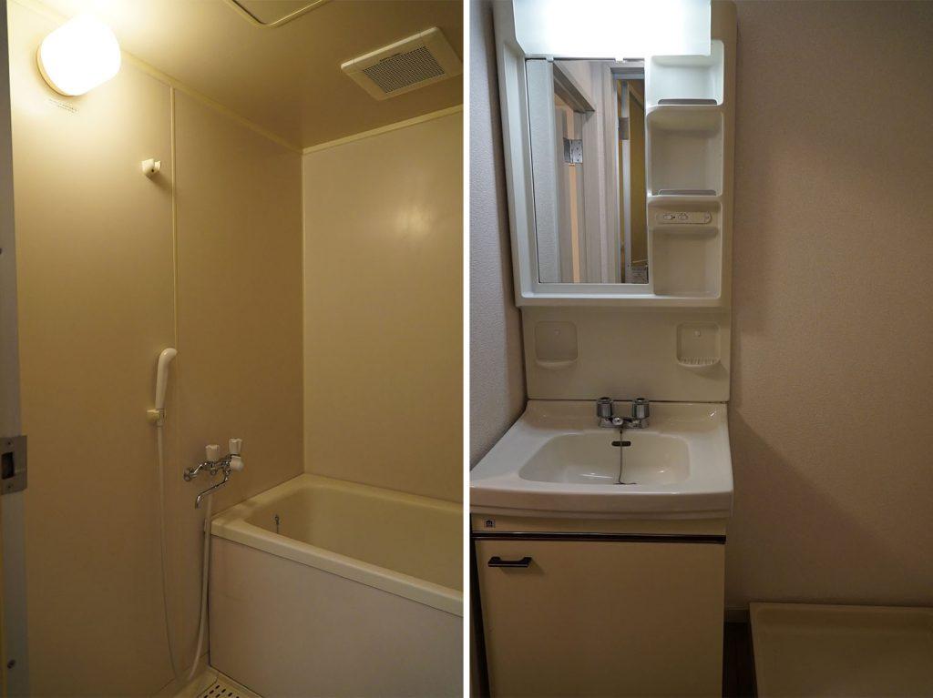 洗面スペースとお風呂