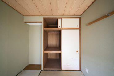 和室の収納です。若干の床の間があります。