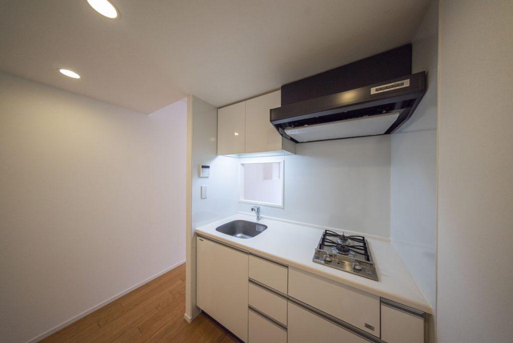 調理スペースもあるキッチン。