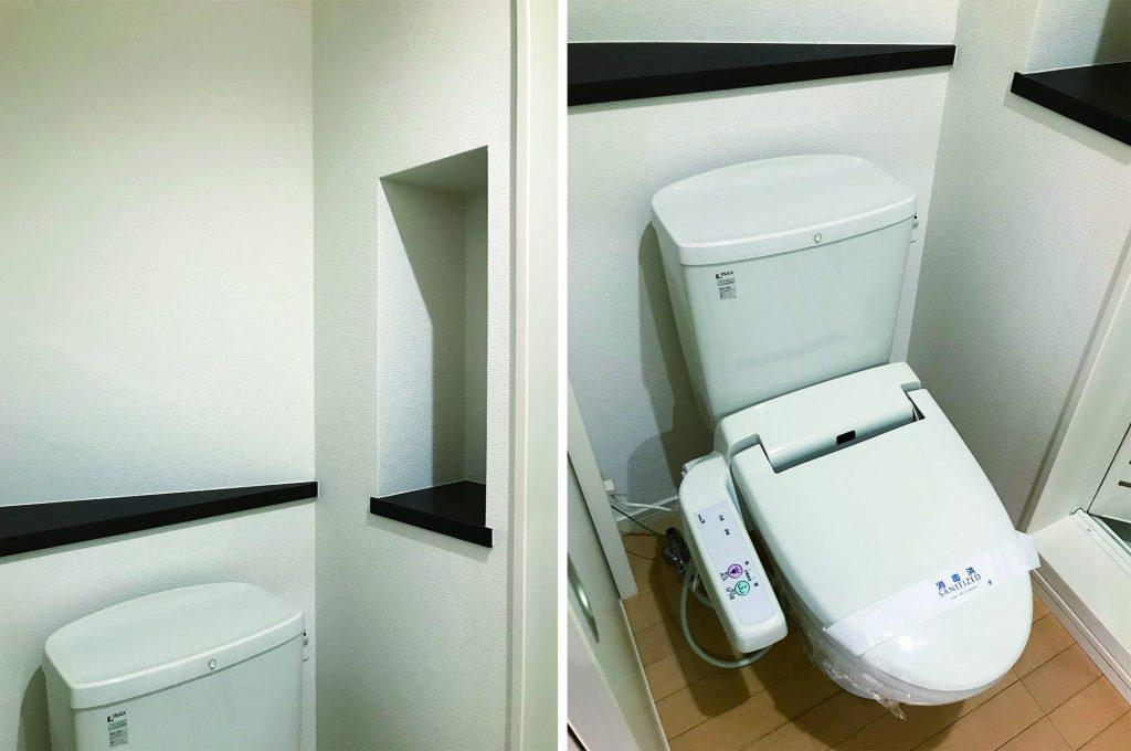 トイレにも壁面収納。