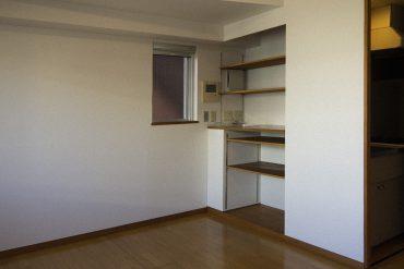 可動式の棚の収納。