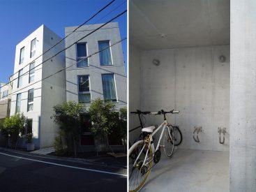 外観と自転車置き場