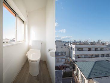 これでもかってくらい日当たりのいいトイレ。