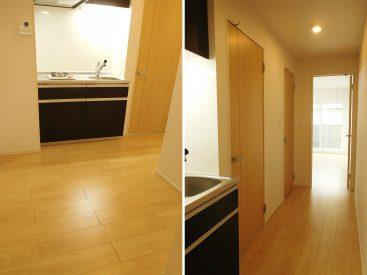 玄関とキッチンの間のスペース広めです