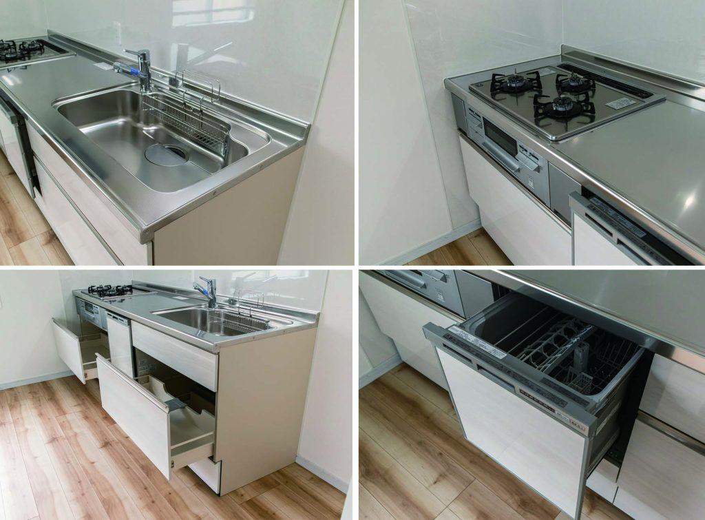 キッチンも入れ替えられています。機能も充実。