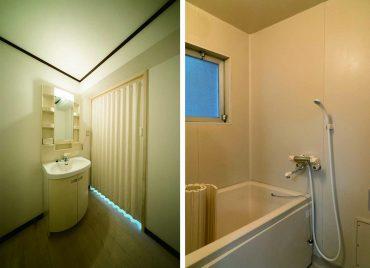 お風呂に窓があるよ〜。