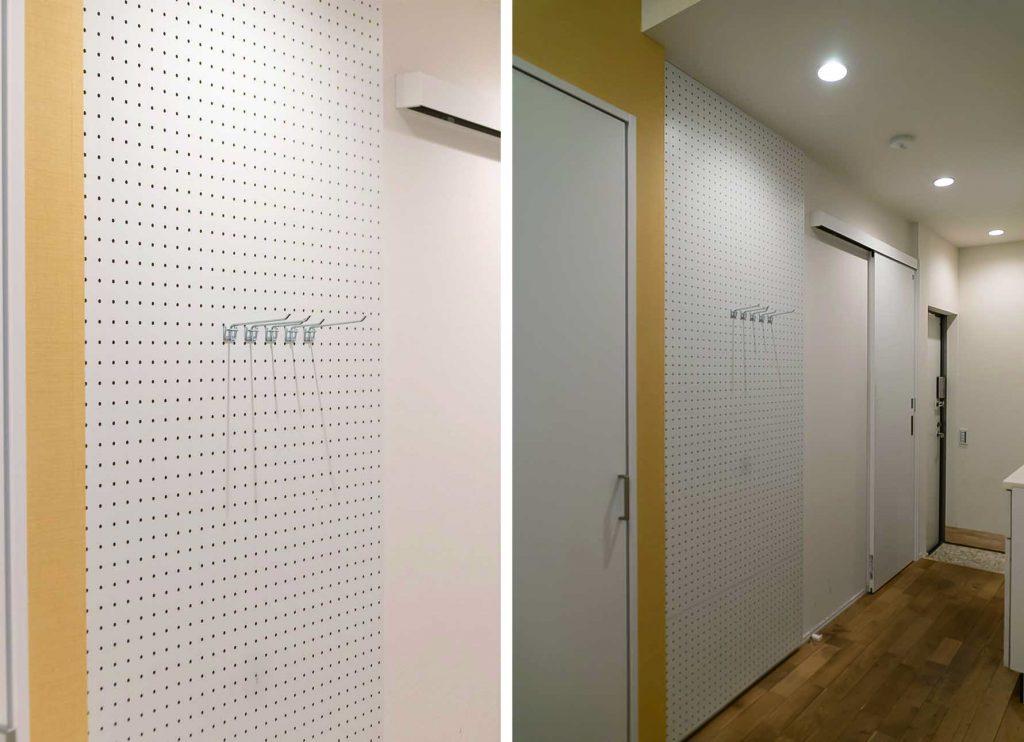 有孔ボードになってる壁、どう使う?