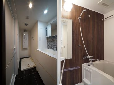 洗面スペースと浴室