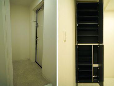広めの玄関と大きめの靴箱