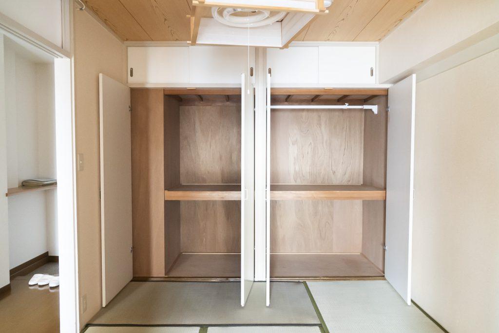 和室の収納を有効活用。