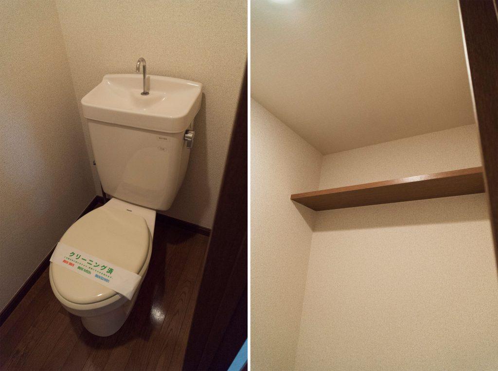 トイレの棚には本をおきたくなっちゃうな。