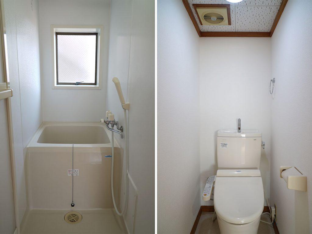 窓の四角と浴槽の四角がリンクしてて美しい