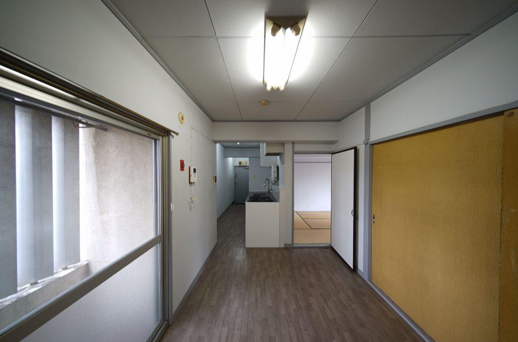 事務所利用も2人入居も可能な2DK