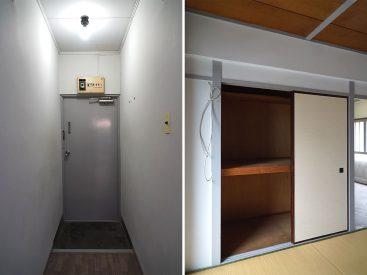 和室②の収納と玄関