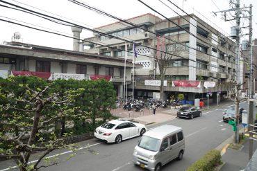 目の前が改修の始まる世田谷区役所。