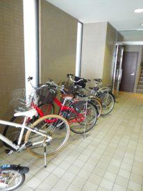 敷地内の自転車置き場