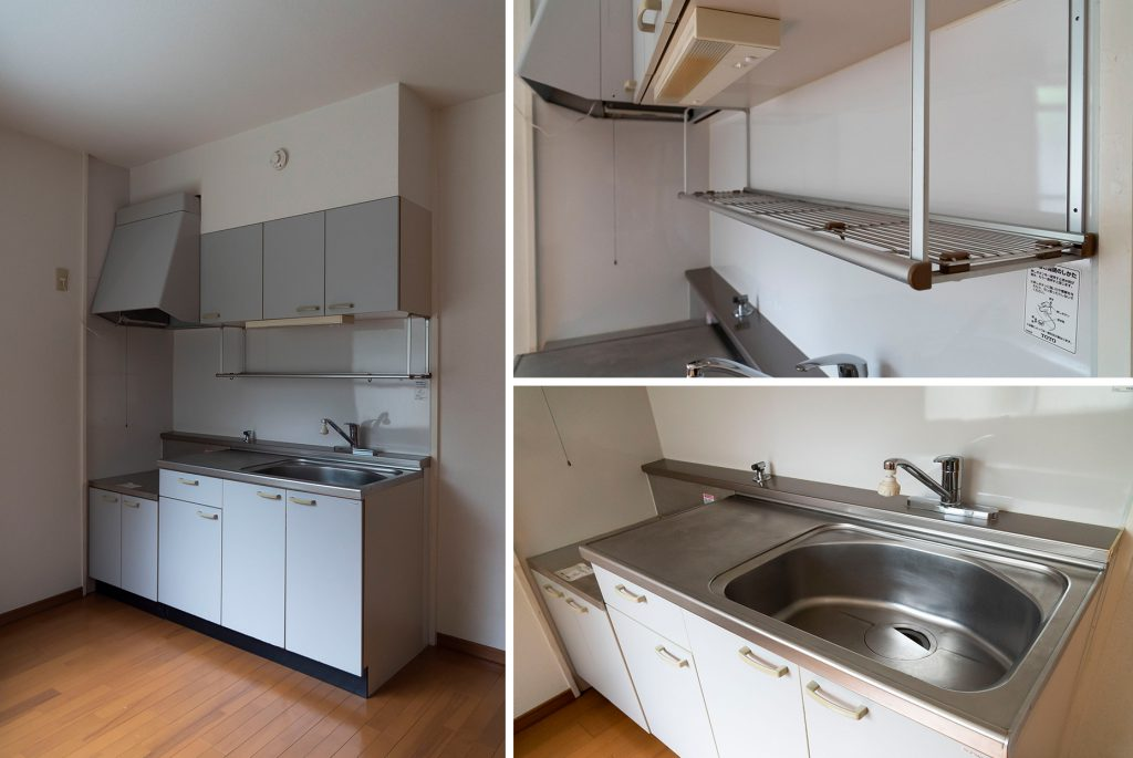 調理スペースも充分なキッチン。
