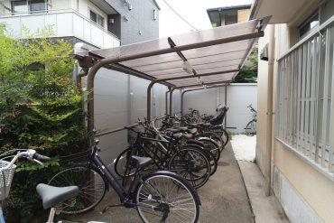 駐輪場屋根付きです。