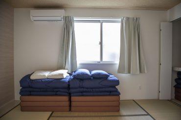 畳と布団って寝てまうわ…。