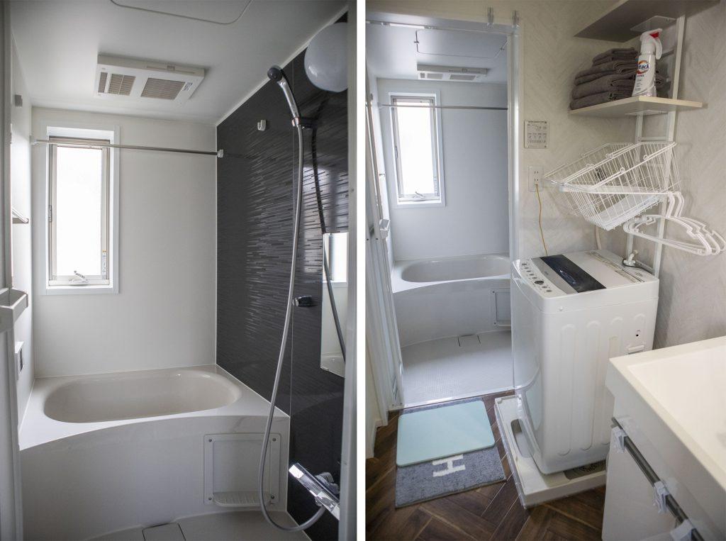 お風呂にも窓が。